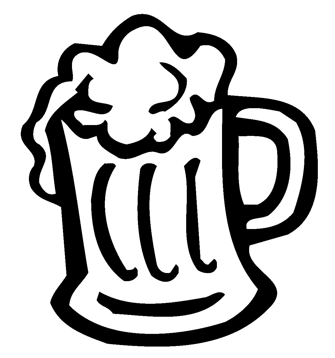 Beer clipart black and white Grandmother  Clipart Free Popular