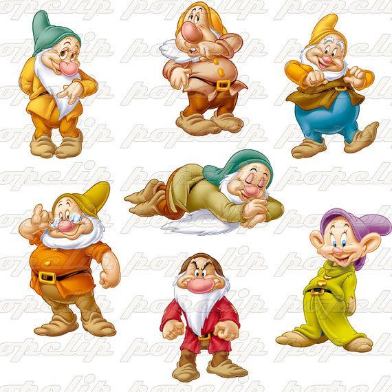 Dwarf clipart seven dwarf Dwarfs Flourish clipart Seven Digital