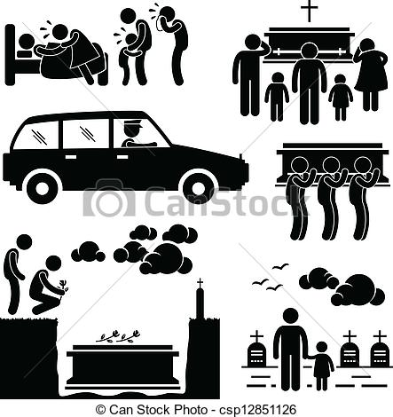 Dying clipart burial Burial of set Burial csp12851126