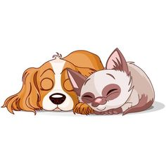 Dying clipart dog Cat and dog Dog