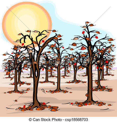 Dying clipart drought Csp18568703 with the in orchard