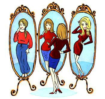 Reflection clipart self confident #12