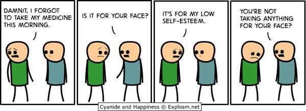 Dying clipart low self esteem Reminds the ever talking cartoon
