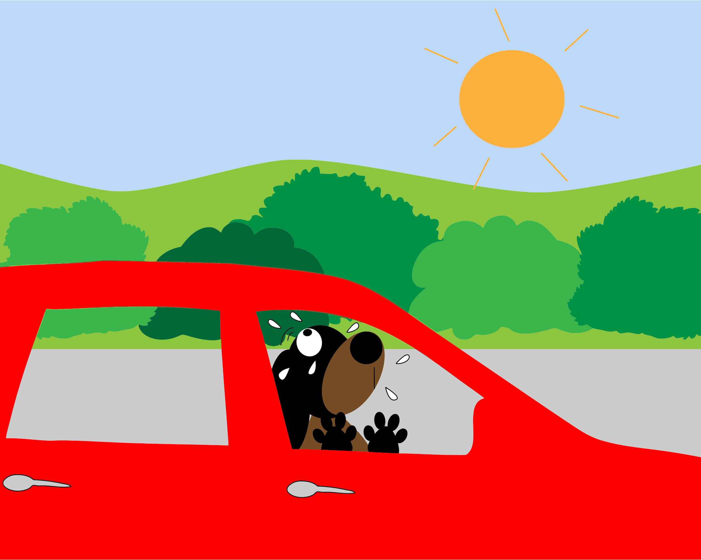 Dying clipart pet Trapped Dog Sweltering Trapped In