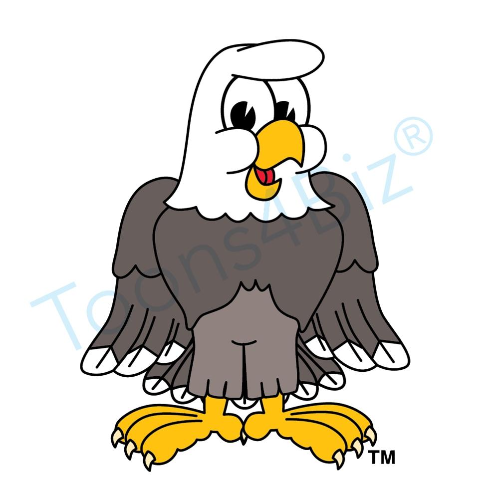 Bald Eagle clipart cartoon  Eagle Standing Mascot Art