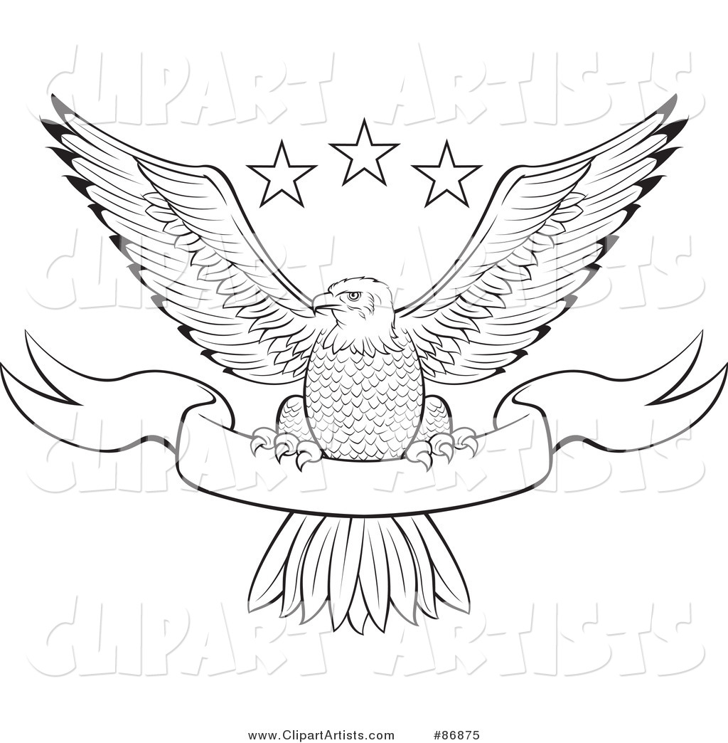 Bald Eagle clipart black and white Art Download Eagle Clip Perched