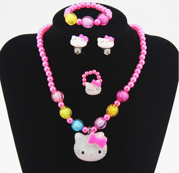 Earrings clipart cartoon Set Girls pink Kids Lovely