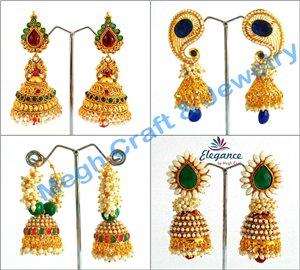 Earrings clipart one One Indian Gold Jewellery Earrings