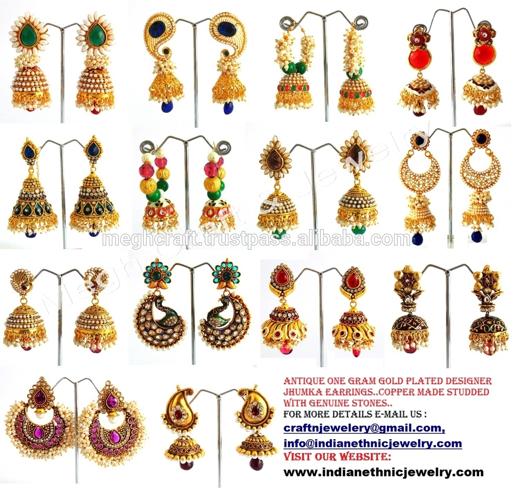 Earrings clipart one Gold Traditional Gram Traditional