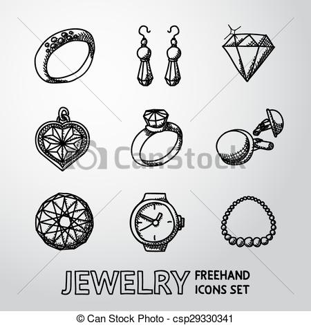 Earrings clipart vector Clipart watch of cuff rings