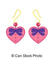 Earrings clipart vector Vectors beautiful isolated isolated Earrings