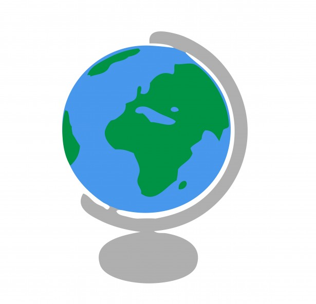 Geography clipart globe Of Asia Globe Clipart Art