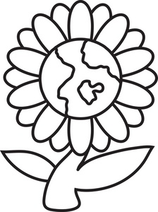 Petal clipart flower coloring With Daisy in the Center