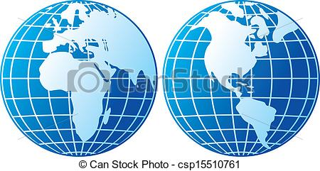 Continent clipart globe With  icon all Art