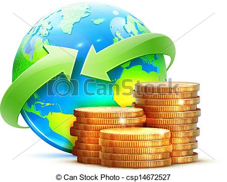 Money clipart earth Global transfer of concept money