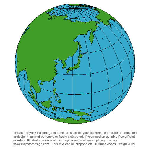 Asians clipart globe Blank to Royalty map world
