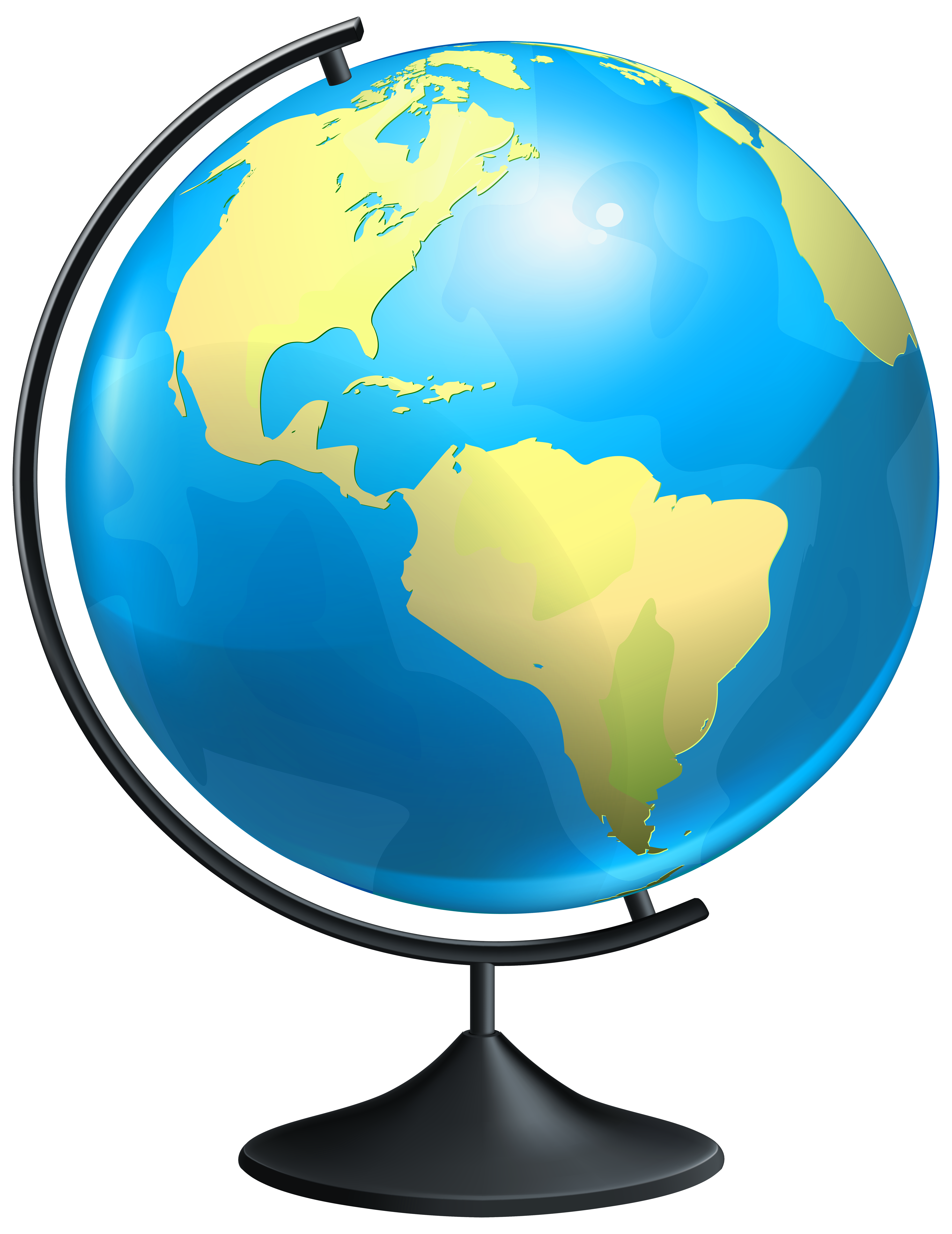 Geography clipart globe Transparent Art View Globe size