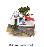 Earthquake clipart building collapse Isolated on free Clipart white