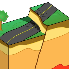 Earthquake clipart earthquake cartoon Fault Animations Normal Concepts for