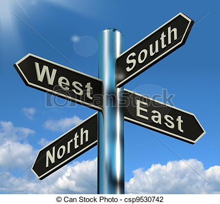 East clipart East and Or east Direction