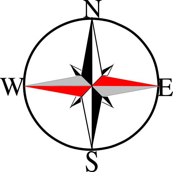 Compass clipart west Clker East free Six Six