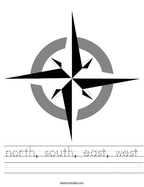 East clipart north south east west West Rose east Compass Worksheet