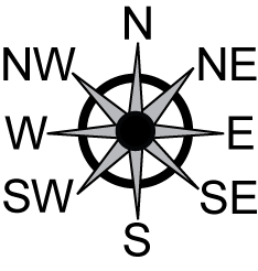 East clipart compass map  North North East south