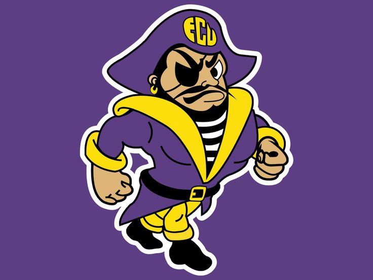 East clipart pirate Logo about Carolina university Pirates
