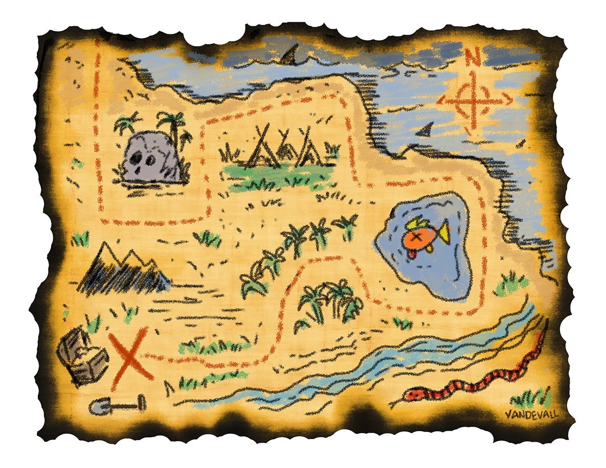 East clipart pirate Treasure for Blank Map Detailed