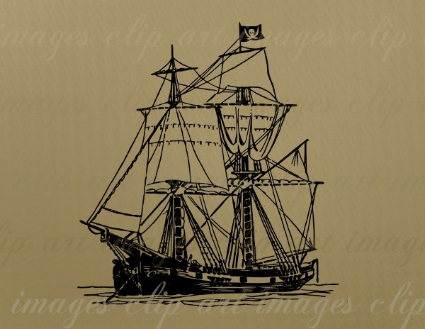 East clipart pirate Ship Free Commercial Graphic Pirate