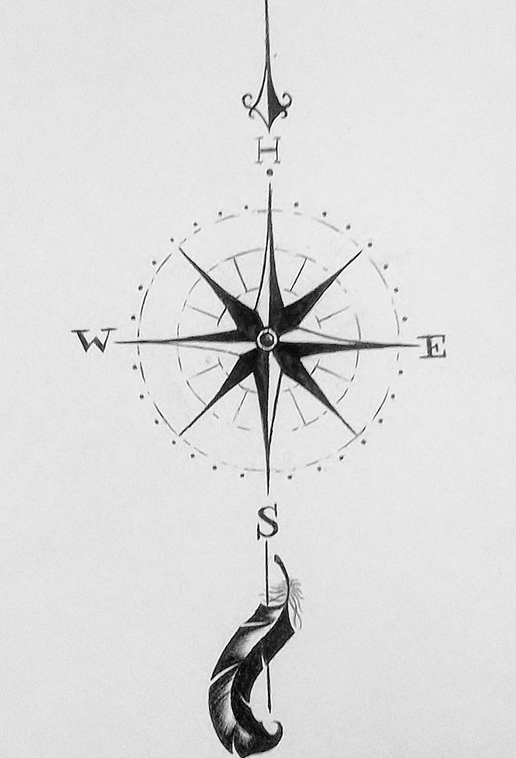 Drawn compass simple black Simple not com of fan