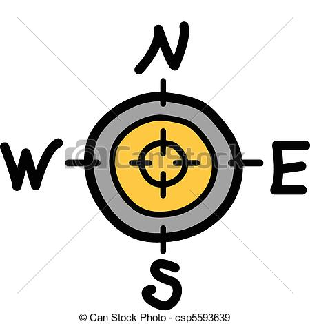 East clipart symbol Compass with east  south