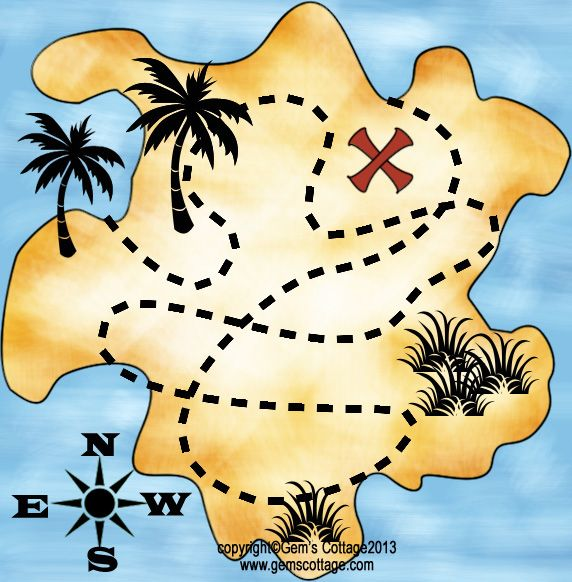 East clipart treasure map Map map on Tags: Pirate