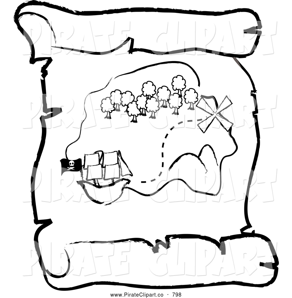 Pirate clipart pirate map Coloring Download Near coloring #7