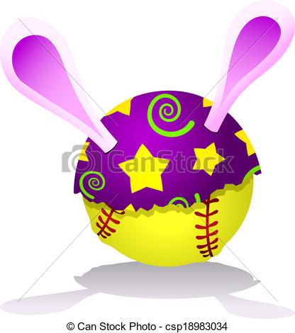 Easter clipart softball #14