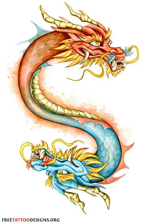 Chinese Dragon clipart irish Bearded tattoo of a dragon