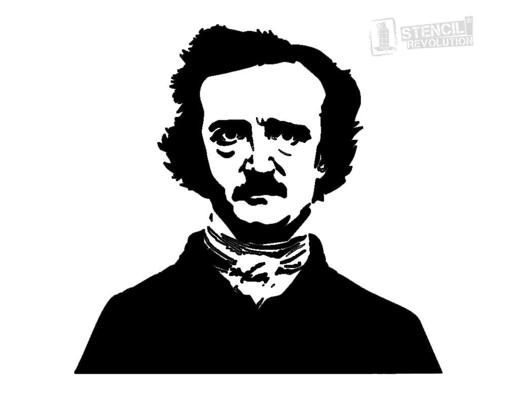 Edgar Allan Poe clipart  Stencil Edgar Pinterest allan