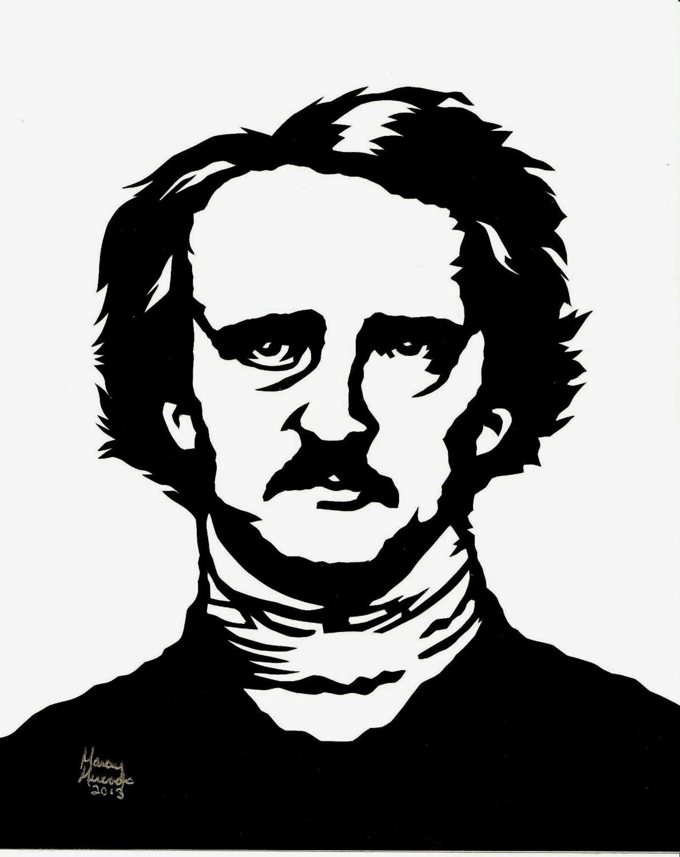 Edgar Allan Poe clipart 8 10 X Cutting Allan