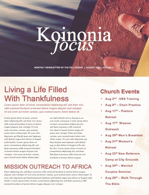 Editingsoftware clipart church newsletter Newsletter And Beautiful Church ready