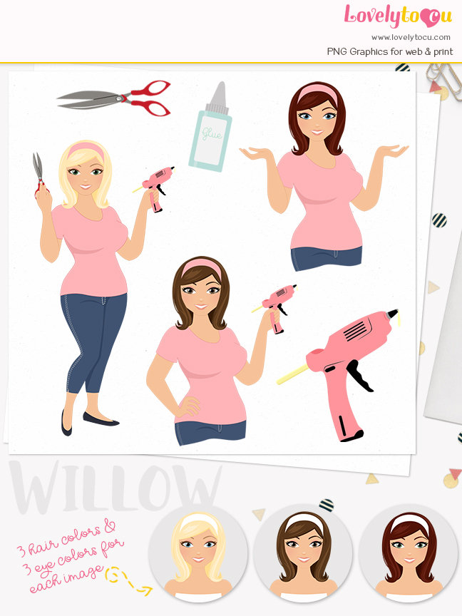 Editingsoftware clipart crafter Crafter character set clipart with