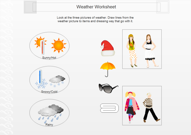 Editingsoftware clipart handout Weather Worksheet Clipart Use Weather