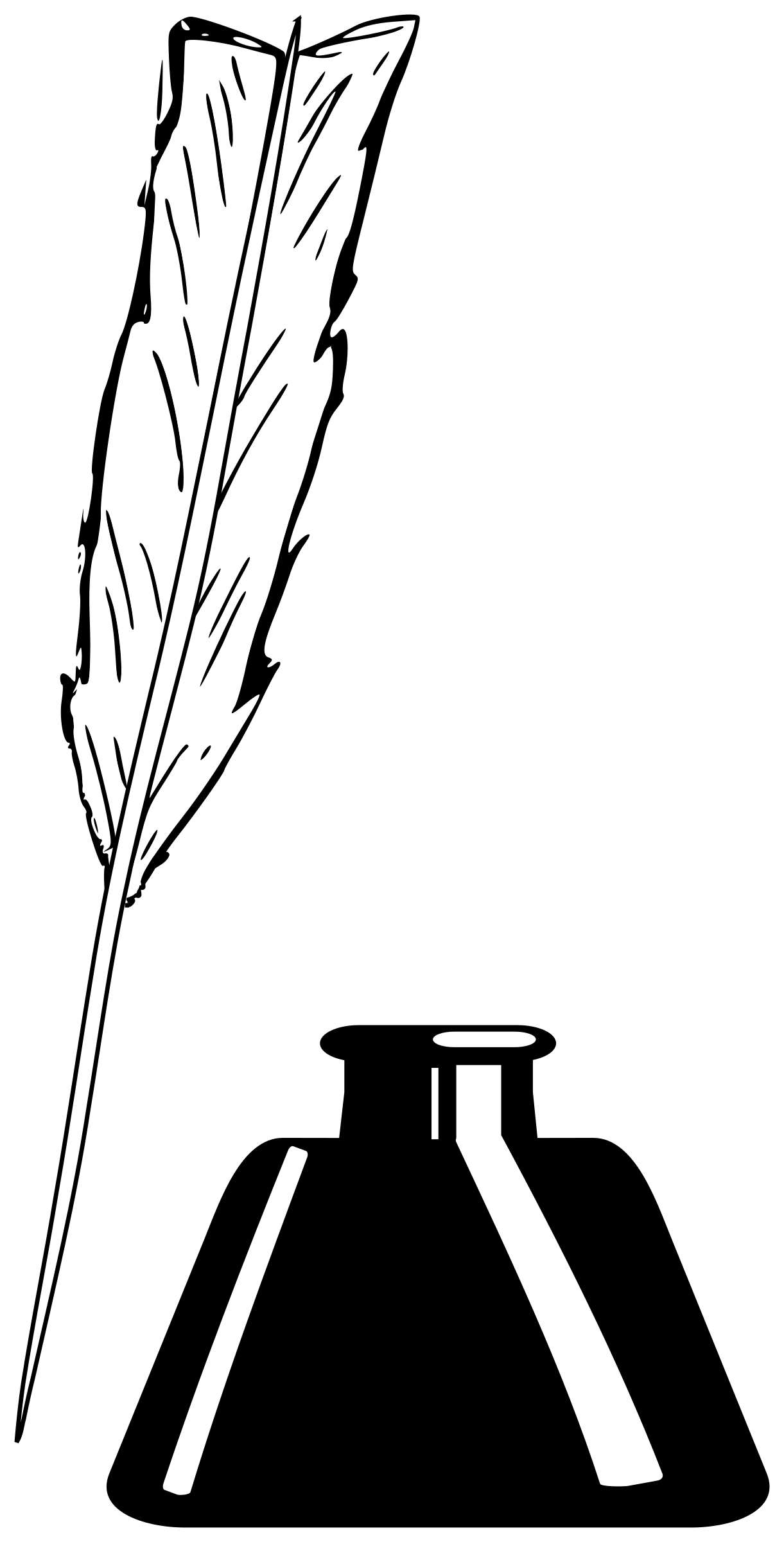 Quill clipart ink bottle #4