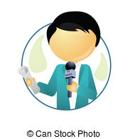 Journalist clipart broadcast journalism Mic a Illustrations 8 in