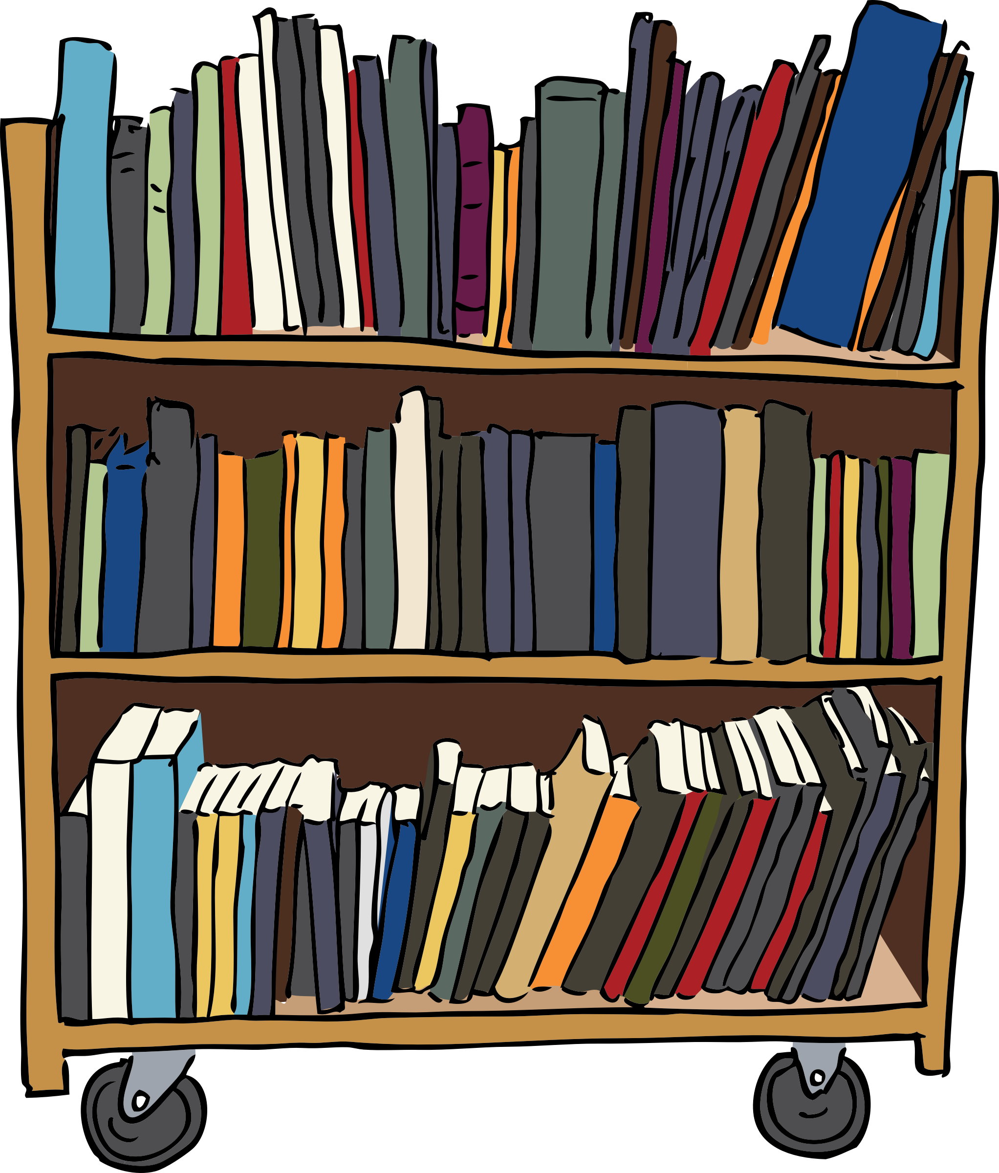 Editingsoftware clipart library research Cart Book Book Library Library