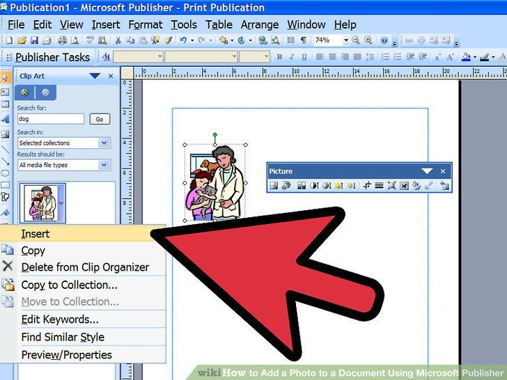 Editingsoftware clipart publication Add Using a a to