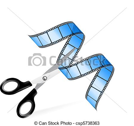 Editingsoftware clipart video production Editing as concept film csp5738363