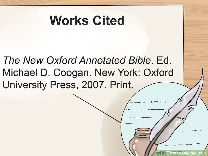 Editingsoftware clipart works cited The Ways Bible Bible wikiHow