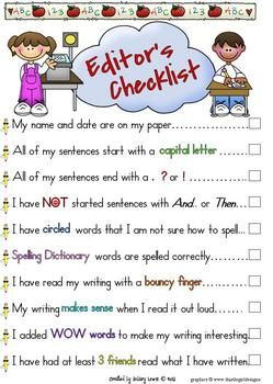 Editingsoftware clipart writing skill  Writing The Kids best