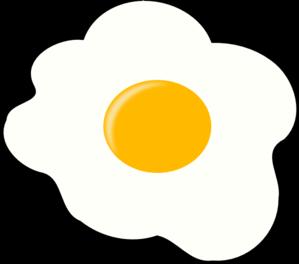 Fried Egg clipart Panda Clipart White Black Clipart