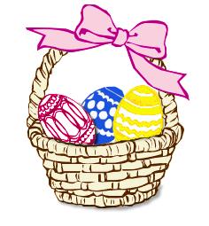 Basket clipart easter candy Art Public Free  Egg